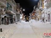 欧美多国遭寒流侵袭 一片白雪茫茫