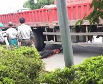 兰亭分水桥加油站附近大货车又酿惨案!